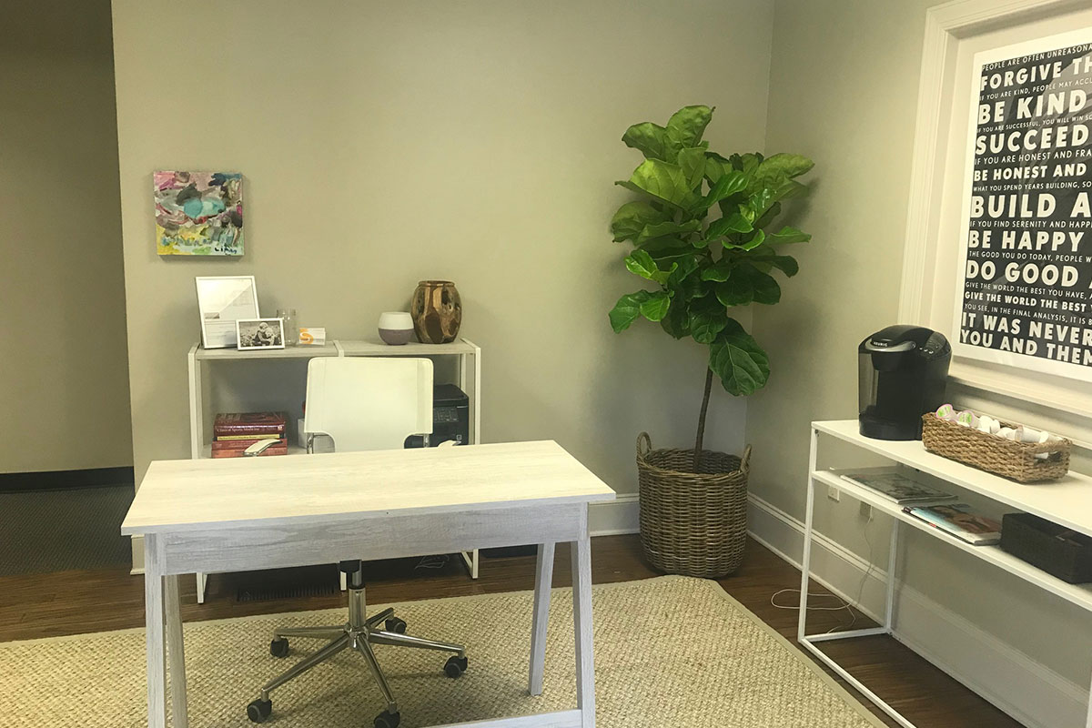 physical therapy office with desk